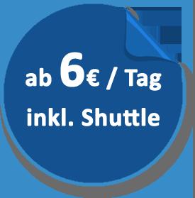Parkplatz in Warnemünde ab 6 Euro am Tag inklusive kostenloser Transfer mit Shuttle-Bus